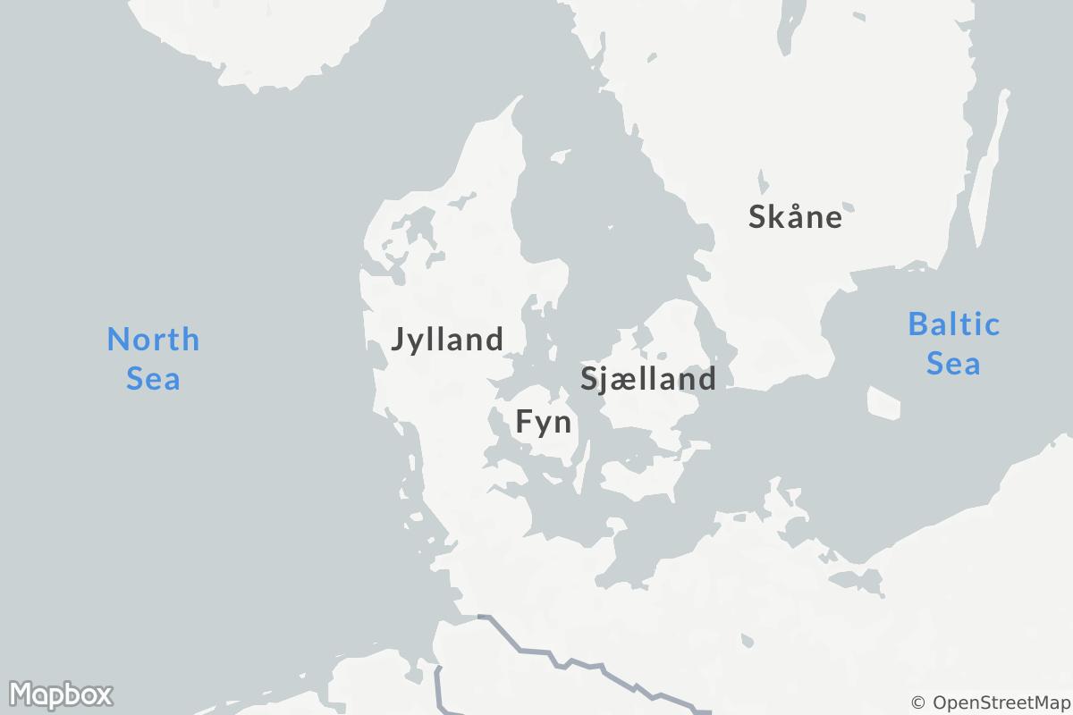 Map of Viking Age Denmark